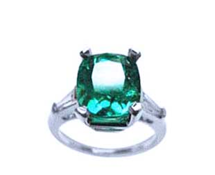 Emerald gemstone rings