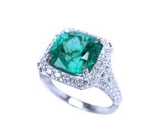 Emerald fashion rings