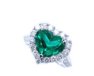 Yellow gold mens emerald rings