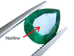concealed fractures in emeralds