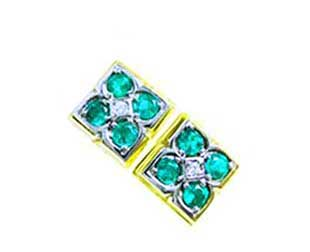 Colombian emerald cufflinks