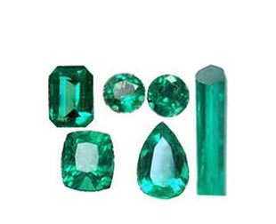 Genuine loose emeralds