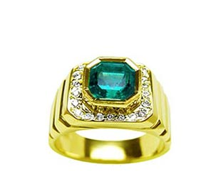 Emerald stone rings for men