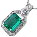 Colombian emerald pendants