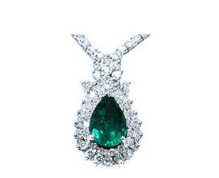 genuine natural emerald necklaces