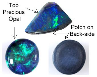 Potch in Australian opals