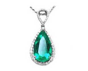 Genuine emerald pendants