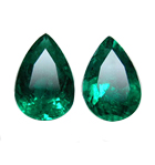 pear shaped emeralds